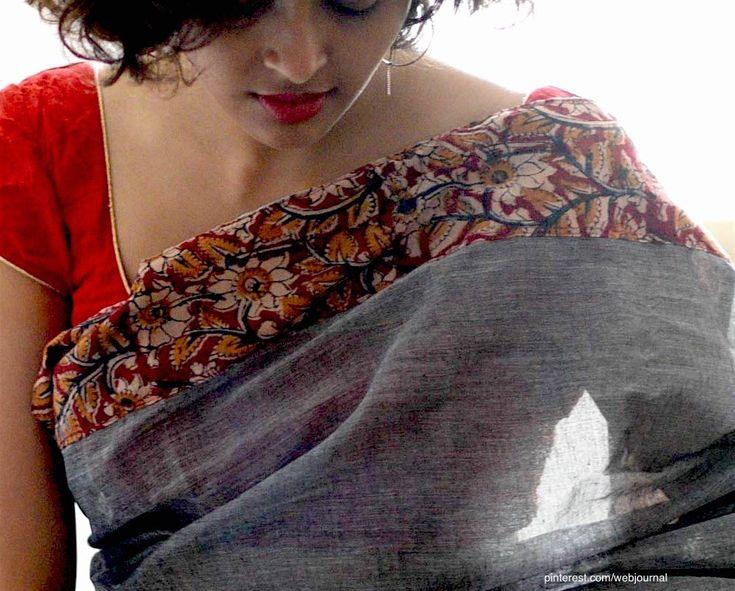 Kalamkari Saree by Suta - detail
