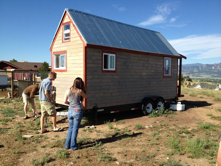 This is a friends 16' long Tiny House, I am thinking of building one 20' long using SIP technology (think Oreo cookie - outer plywood wall, filling of hard foam insulation, and inner ply/hardwood veneer wall - bonded with glue) higher integrity, shell becomes one piece.