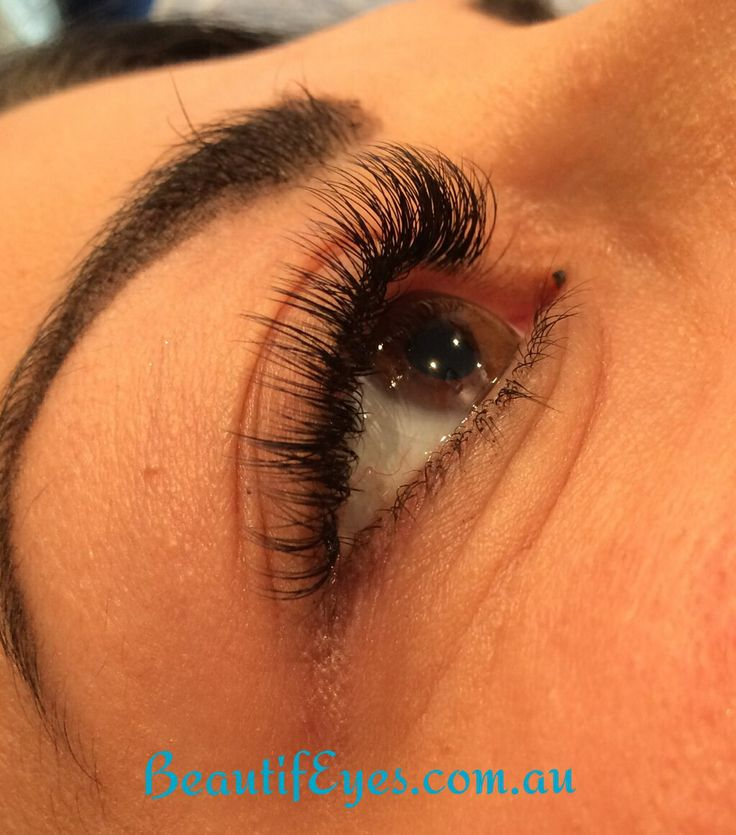 Volume lash extensions by Amy Rodgers