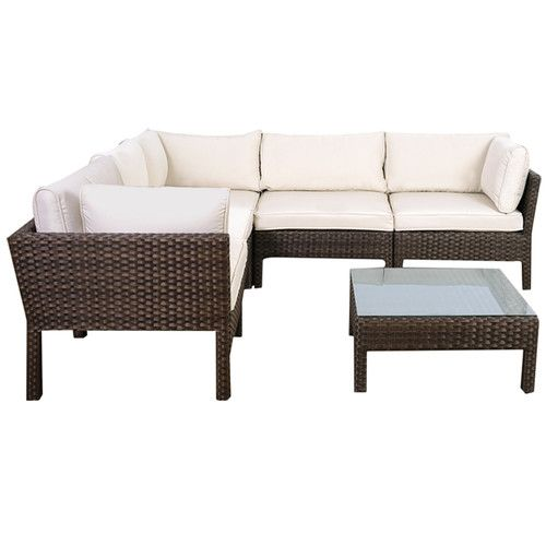 international home miami atlantic st etienne 6 piece seating group with off white cushions. Black Bedroom Furniture Sets. Home Design Ideas