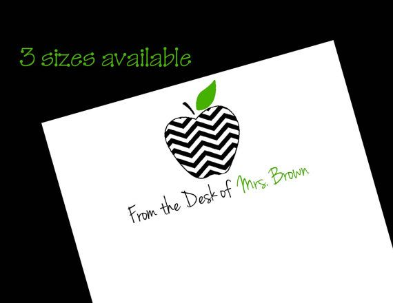 I bought these for a friend for Christmas, they turned out so cute!! Personalized Teacher Chevron Apple Notepad 50 by wackykracker, $6.00