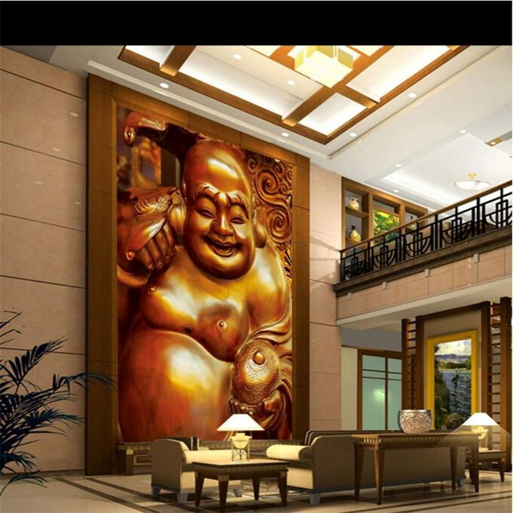 """16.17$  Buy now - http://alieod.shopchina.info/go.php?t=32756712702 - """"Beibehang 3 d custom wallpaper smile """"""""Buddha classical hd photo wallpaper porch corridor of 3 d 3 d wallpaper""""  #magazineonlinewebsite"""