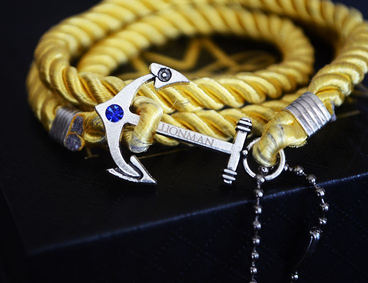 Cashmere Yellow Anchor Rope Bracelet.