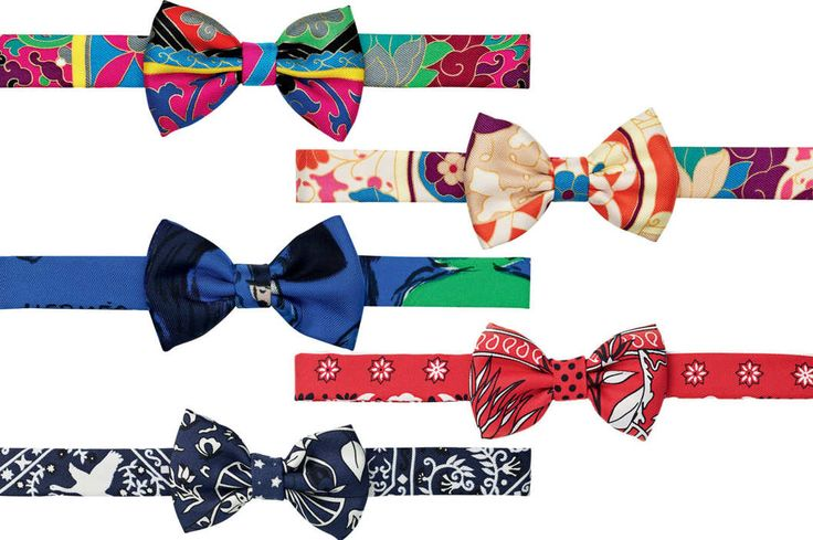 Hermès Is Selling Fancy Bow Ties for Women -- The Cut  I don't love these prints, but they do provide inspiration.