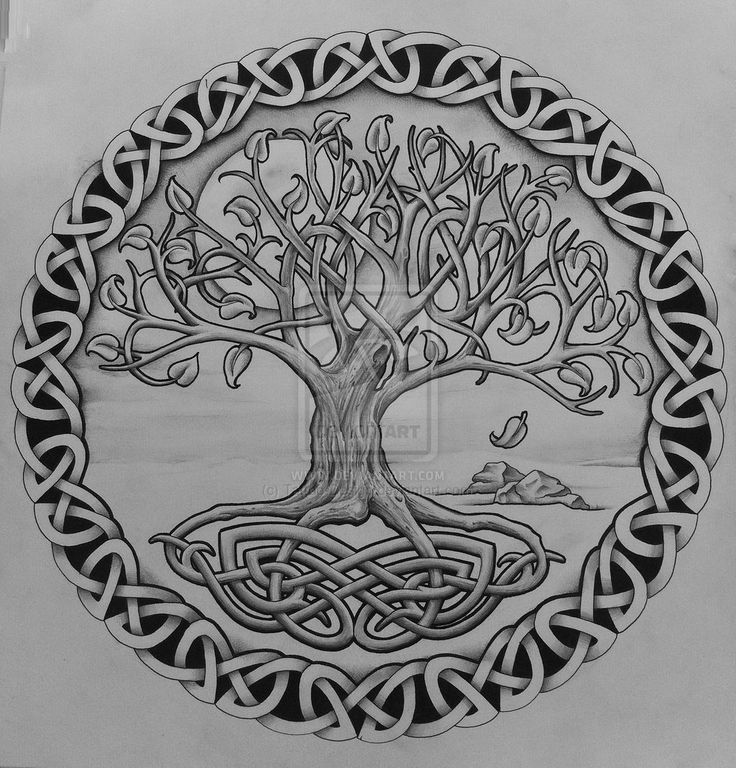 Celtic Oak Tree Tattoo | tree of life with rocks by tattoo design designs interfaces tattoo ...