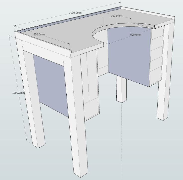 rough 3D sketch  / Jewelers Bench plans with dimensions #jewelrymaking