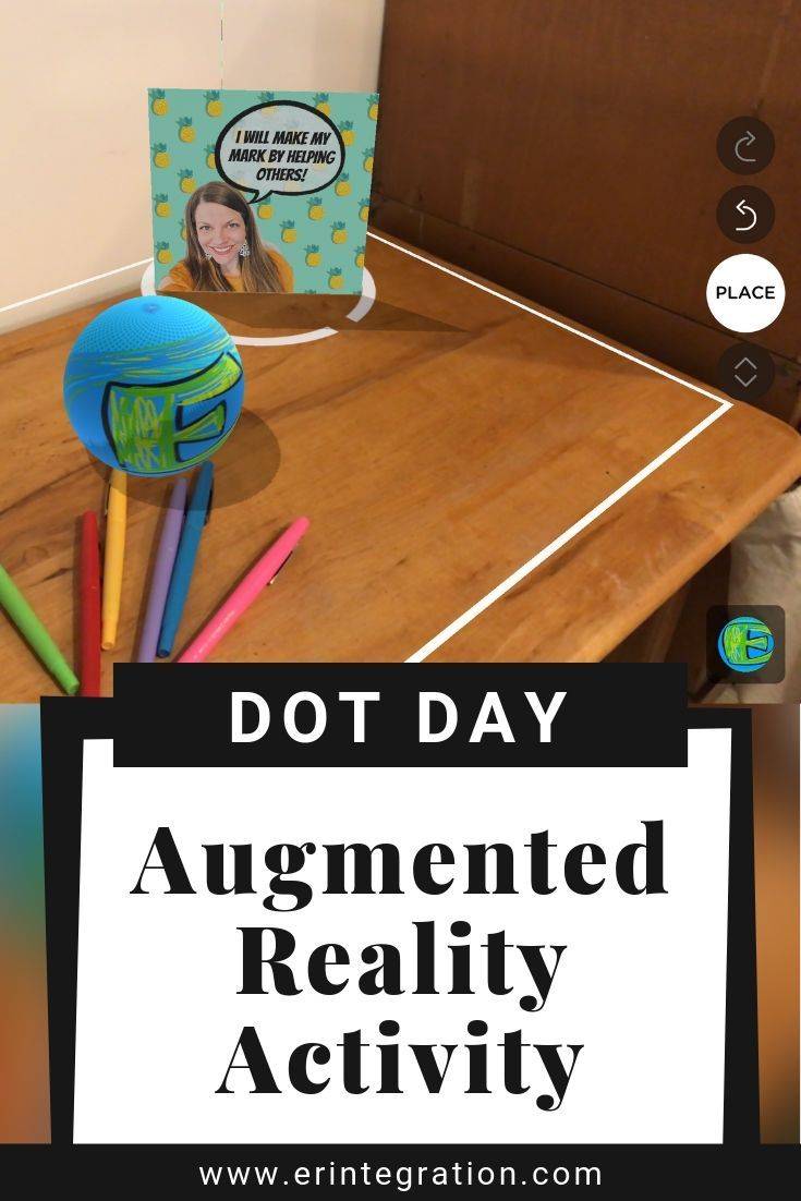 Dot Day Art Project Using AR on the iPad