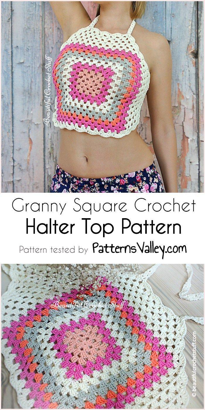 75025e66ed9 Granny square crochet halter top pattern free crochet pattern crochet  halter top jpg 700x1400 Halter top