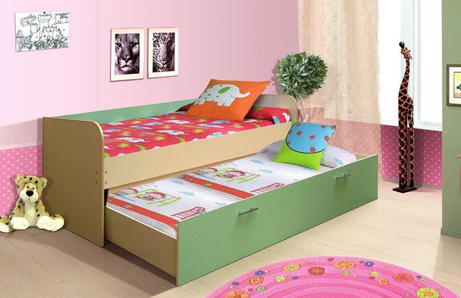 Кровать выдвижная, двухъярусная (800*2000/700*1900)