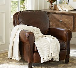 Leather Chairs, Leather Armchairs & Leather Club Chairs   Pottery Barn