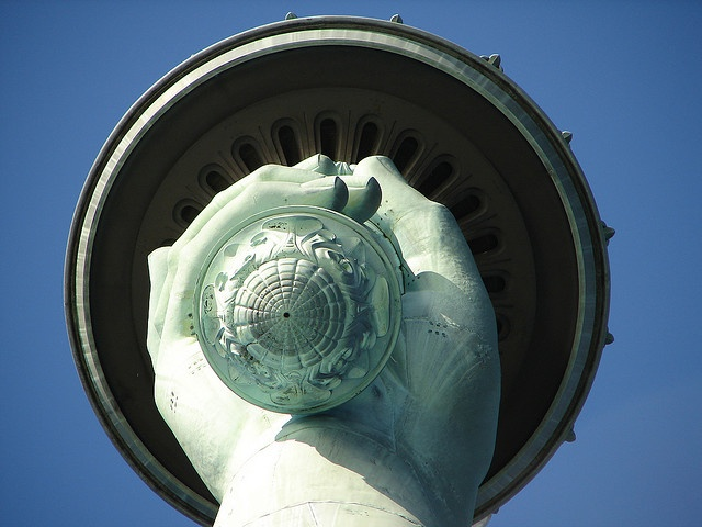 Statue of Liberty Torch from below