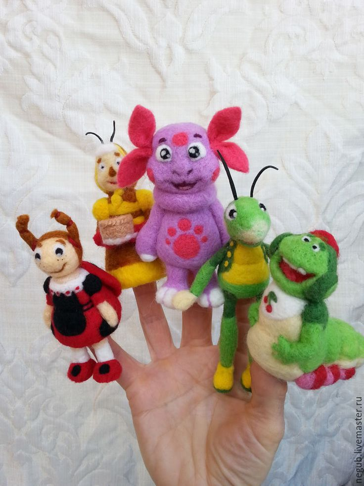 """Купить Пальчиковый театр """" Лунтик и его друзья"""". - комбинированный, пальчиковый театр, пальчиковые игрушки"""