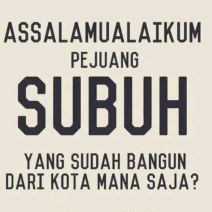Assalamu'alaikum wr wb Pejuang subuh yang sudah bangun dari kota mana aja nih? . Siap-siap ya pagi ini Pukul 05.00 Tausiyah Inspiratif bersama Kak @aifsaifulmaruf_ .  Follow @IndonesiaBertauhid Follow @IndonesiaBertauhid Follow @IndonesiaBertauhid . #IndonesiaBertauhid #IslamRahmatanLilAlamin http://ift.tt/2f12zSN