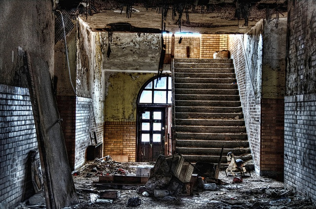 1000 images about abandoned on pinterest - The house in the abandoned school ...
