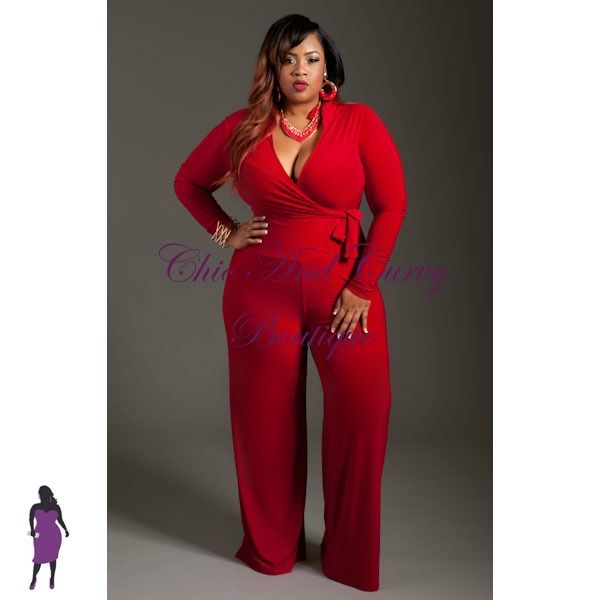 show off all your curves this valentines day with a sexy and stunning jumpsuit plus size - Plus Size Valentine Dresses