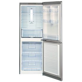 LG 10.1-cu ft Bottom-Freezer Refrigerator (Platinum Silver) at Lowes.com GOOD PRICE, decent reviews. Will fit within 24 inch space