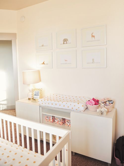 Cream And Gold Elegant Nursery Room For Baby Girl Gold