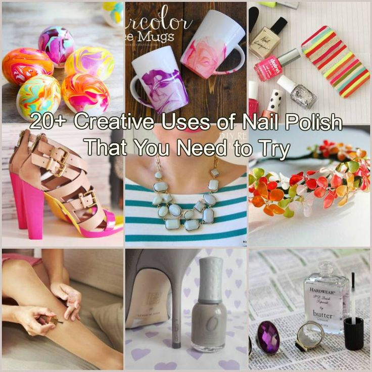 20+ Creative Uses of Nail Polish That You Need to Try #DIY #craft #nail_polish