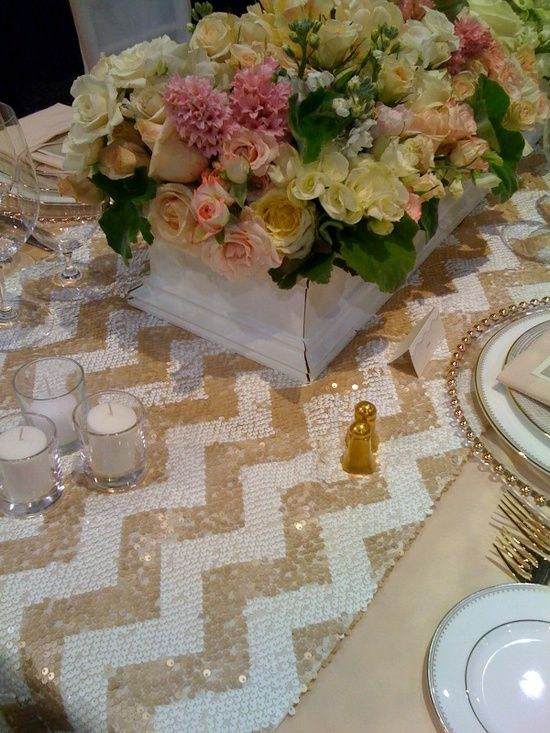 1000 images about chevron sequin gold white on pinterest gold chairs table runners and runners. Black Bedroom Furniture Sets. Home Design Ideas