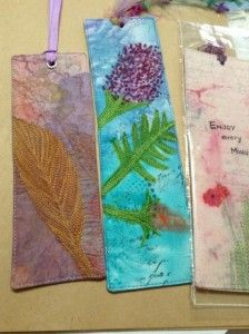 Studio workings - Fabric Bookmarks by Dale Anne Potter.