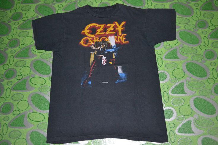 Vintage 1982 OZZY OSBOURNE Speak of the Devil Tour Concert promo L Size 90s T-shirt by OldSchoolZone on Etsy