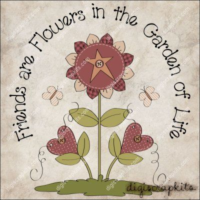 Friends are Flowers 1 Clip Art Single http://digiscrapkits.com/digiscraps/index.php?main_page=product_info&cPath=921_903&products_id=8783