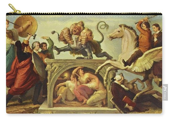 Oil Carry-all Pouch featuring the painting Oil Painting by Kaulbach Wilhelm von