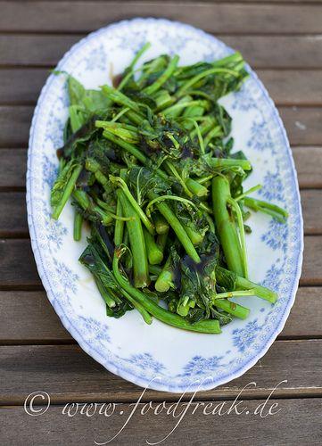 Choy Sum mit Austernsauce   Foodfreak