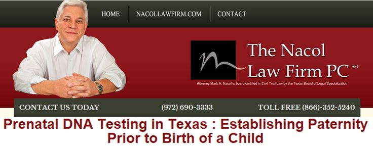 Prenatal DNA Testing in Texas : Establishing Paternity Prior to Birth of a Child http://www.nacollawfirmblog.com/family-law/prenatal-dna-testing-in-texas-establishing-paternity-prior-to-birth-of-a-child