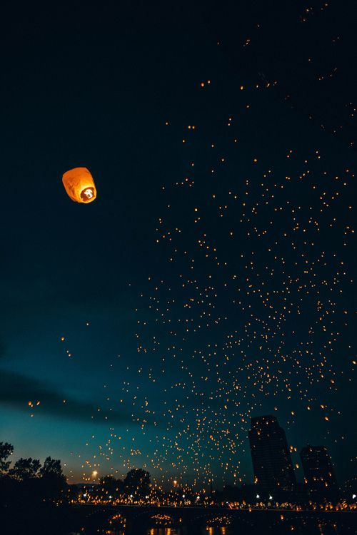 Bucket List- Go to a Lantern Festival and let go of a lantern. The lanterns can symbolize the people letting go of their past selves.