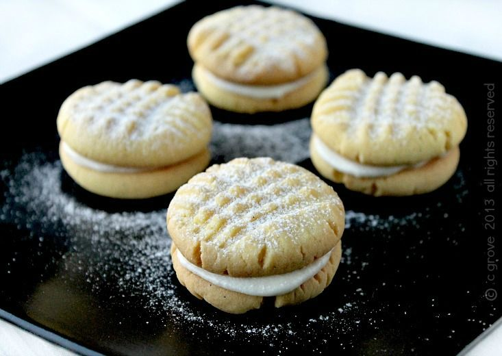 old fashioned custard cream cookies - easy and delicious!