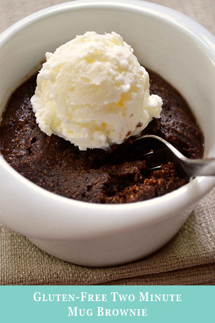 This Mug Brownie recipe will take you just two minutes to make. If you're looking for a dessert that's both quick and easy, it doesn't get better than this. AND it's gluten free!