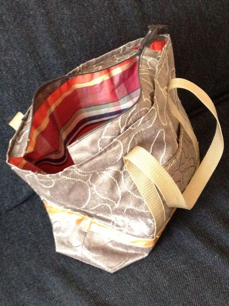 Binnenkant/voering tas restje gordijnstof
