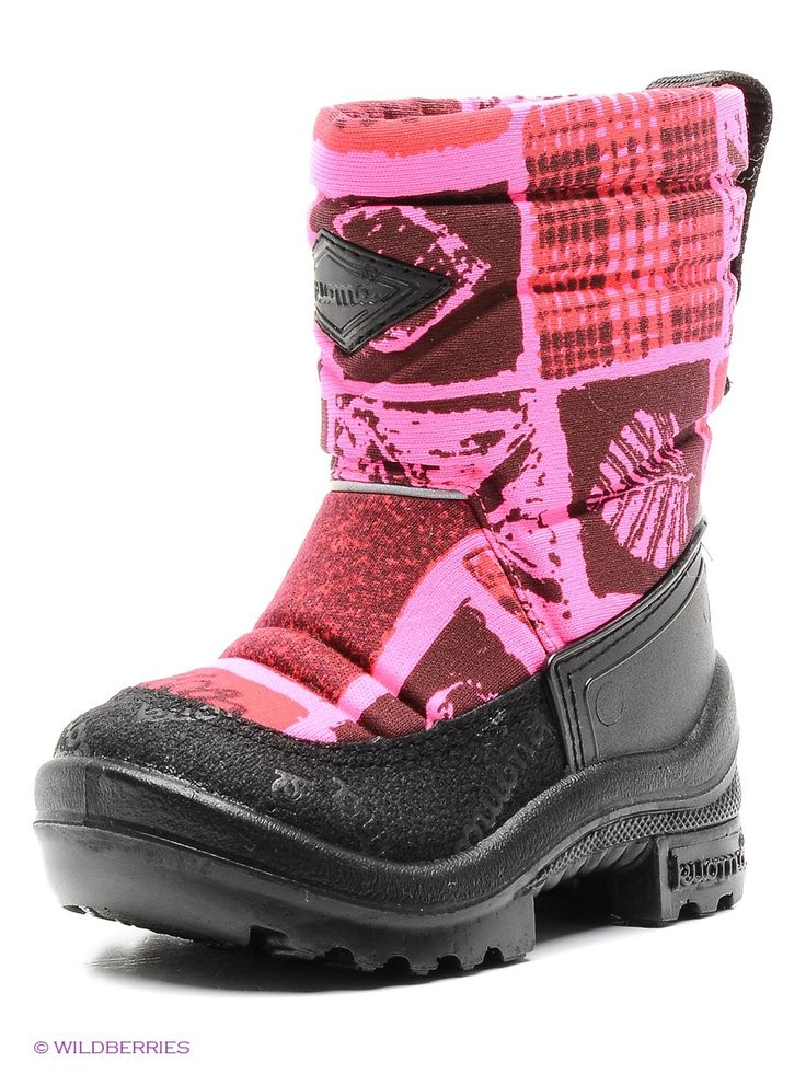 Сапоги KUOMA. Цвет розовый, черный, бордовый.