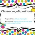 pdf file of 11 jobs with a title page, should be able to edit, if not email me and I can send you ppt file    Polka-dot background created to match m...