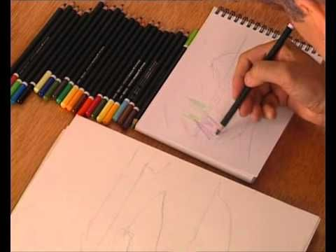 Curso practico de dibujo y pintura- lapices de colores - YouTube