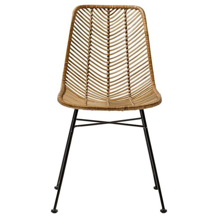 Chaise design en rotin tressé - Lena sur CDC Design