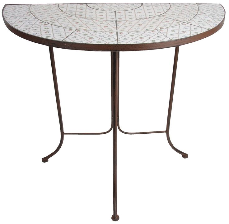 Fallen Fruits Botanicae Half Round Table