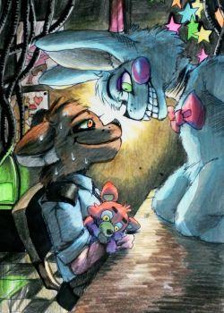 Hi, Freddy / Toy Bonnie n security FNaF 2 by Mizuki-T-A