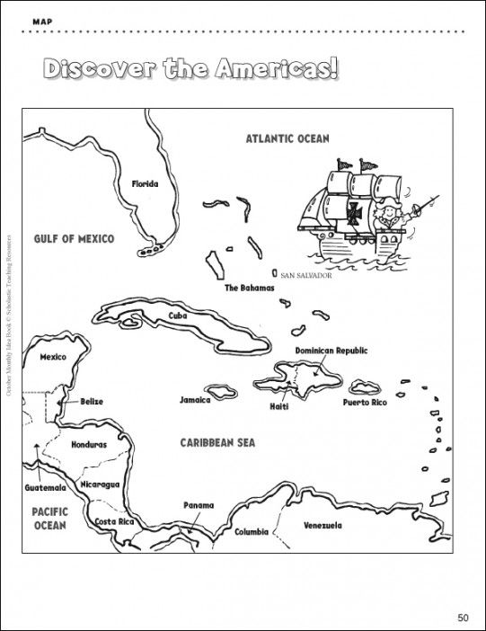Before Christopher Columbus dropped anchor in the new world, these lands were unknown to Europeans. Use this map to follow Columbus' journey, then have student's imagine their own story!