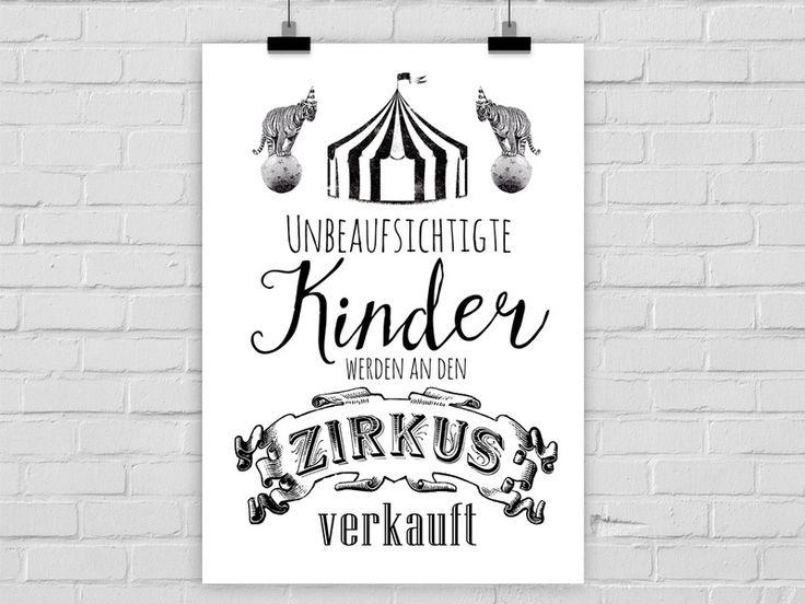 Kunstdruck UNBEAUFSICHTIGTE KINDER von Prints Eisenherz auf DaWanda.com