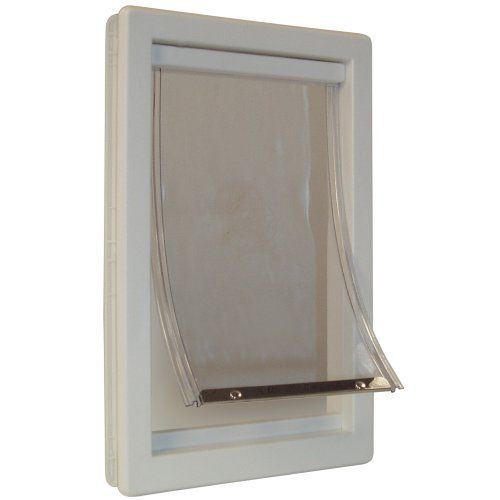 Ideal Pet Products - Extra-Large 10.5-by-15-Inch Flap Size Original Pet Door with Telescoping Frame Ideal Pet Products