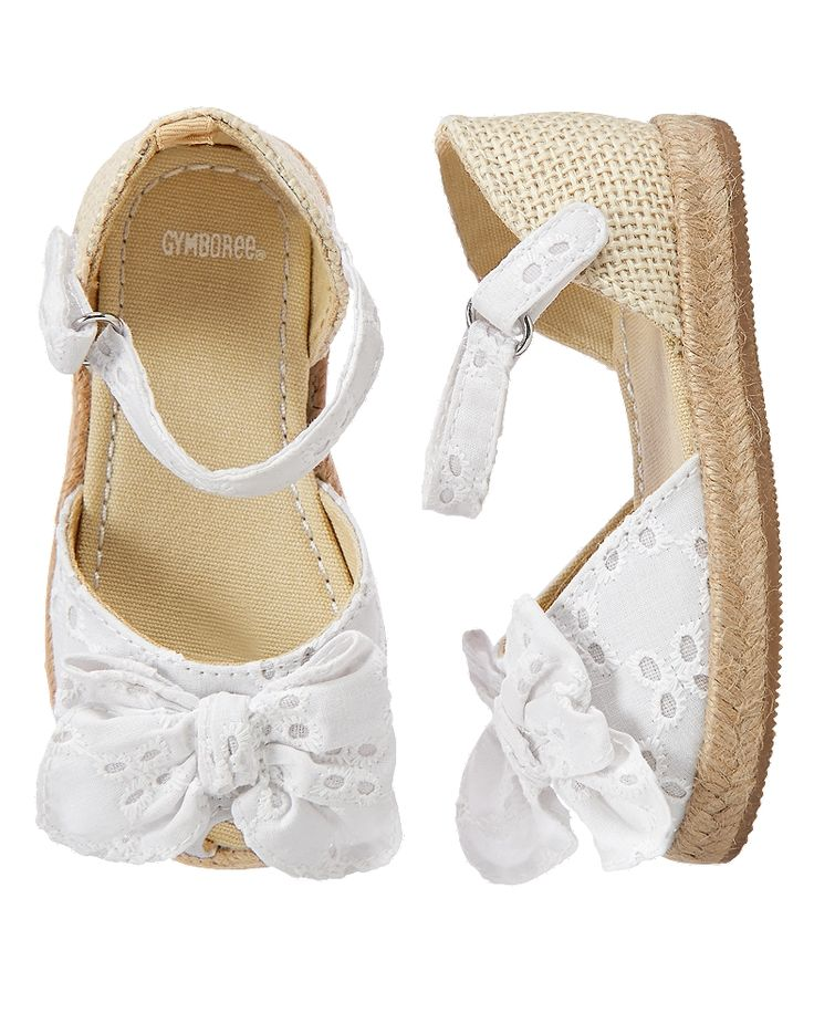 Gymboree Toddler Girl White Eyelet Espadrille Sandals