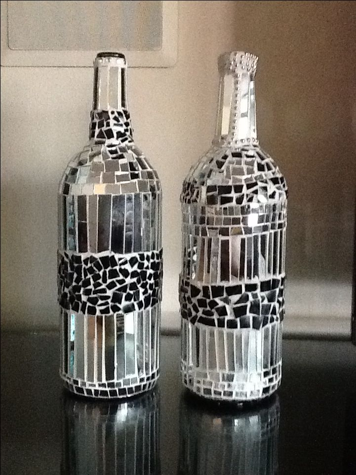 Large wine bottles.