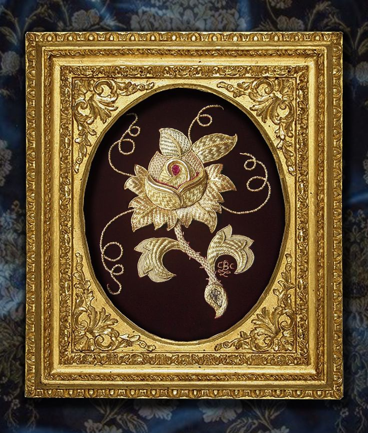 Gorgeous goldwork embroidery - rose