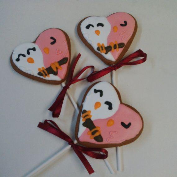 Birdies In Love  One Dozen 12 pcs. Sugar  or by MadameGingerbread