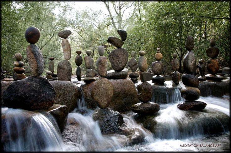 Surreal rock sculptures#Repin By:Pinterest++ for iPad#Sculpture, Balance Rocks, Rivers Rocks, Rocks Balance, Rocks Formations, Gardens, Michael Grab, Stones, Rocks Art