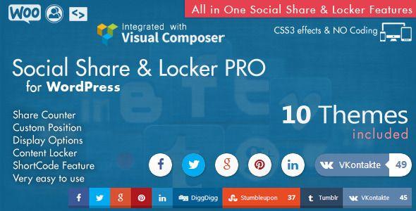 Social Share & Locker Pro Wordpress Plugin :  Check out 'Social Share & Locker Pro Wordpress Plugin' on #EnvatoMarket #codecanyon http://codecanyon.net/item/social-share-locker-pro-wordpress-plugin/8137709?ref=25EGY