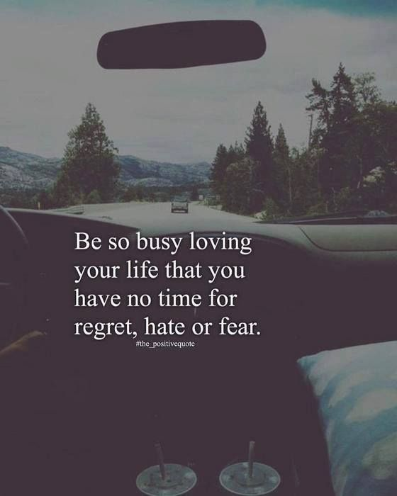 Positive Quotes : QUOTATION – Image : Quotes Of the day – Description Be so busy loving your life that you have no time for regret.. Sharing is Power – Don't forget to share this quote ! https://hallofquotes.com/2018/04/16/positive-quotes-be-so-busy-loving-your-life-that-you-have-no-time-for-regret/