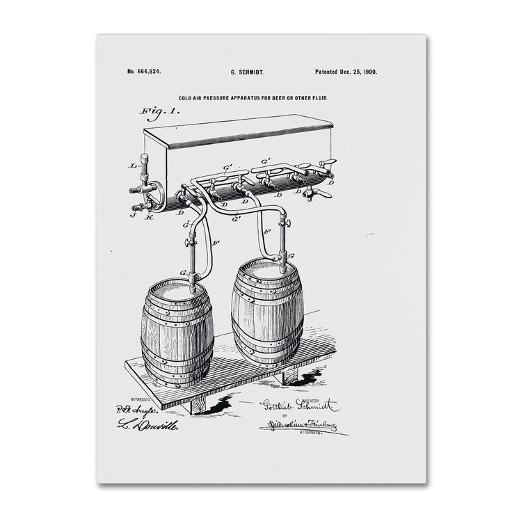 Claire Doherty 'Art Of Brewing Beer Patent ' Wall Art